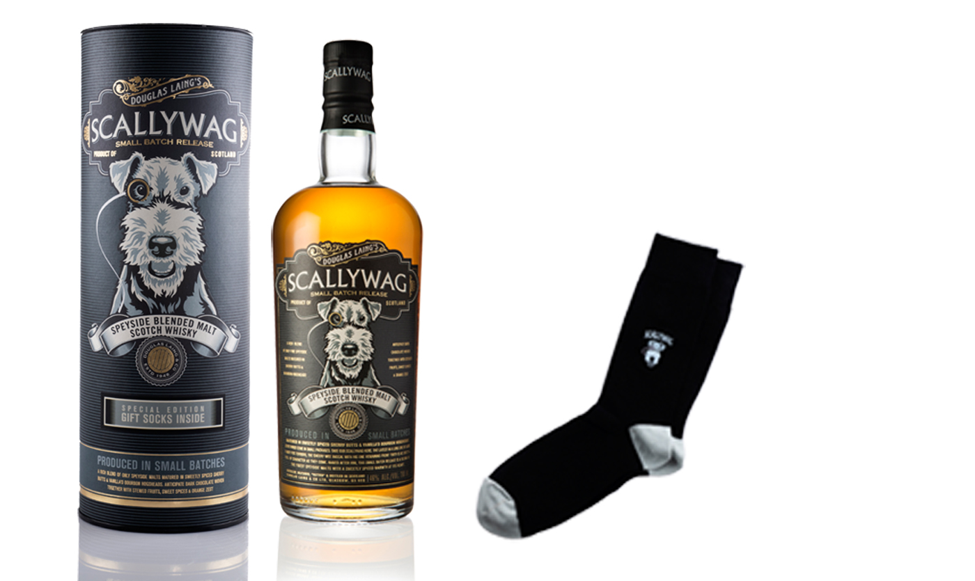 Scallywag Speyside Malt Whisky & Scallywag sokken