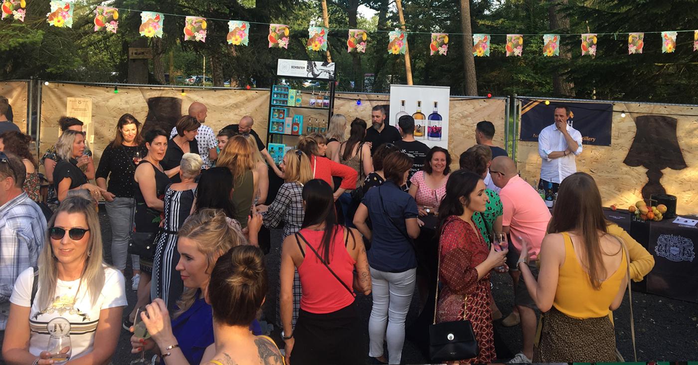 Edinburgh Gin Rhubarb Ginger Liqueur geliefd op Gin Tonic Festival Weert