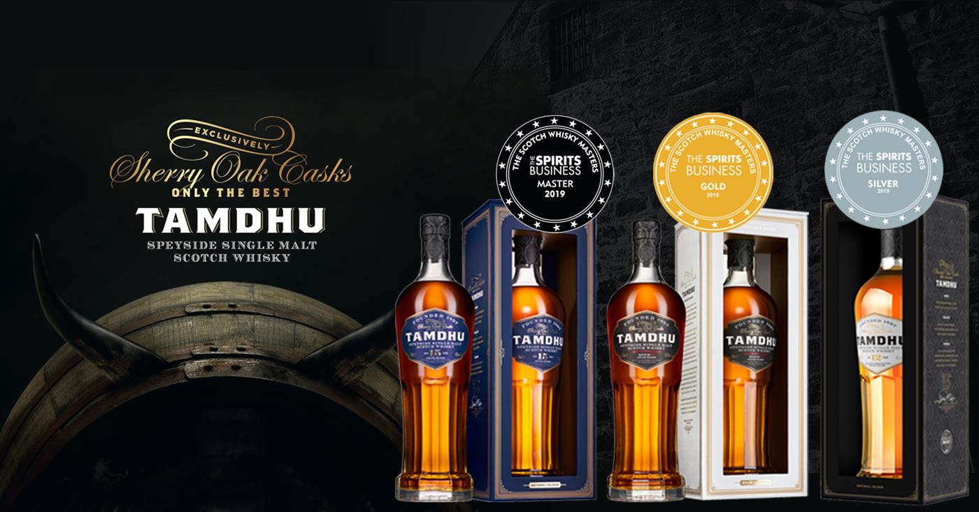 Exclusieve Sherry Cask whisky's Tamdhu beloond met mooie prijzen