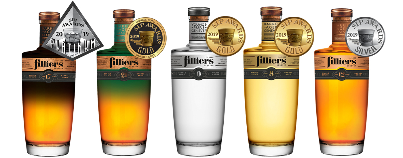 Filliers Barrel Aged Genevers winnen prijzen op SIP Awards 2019
