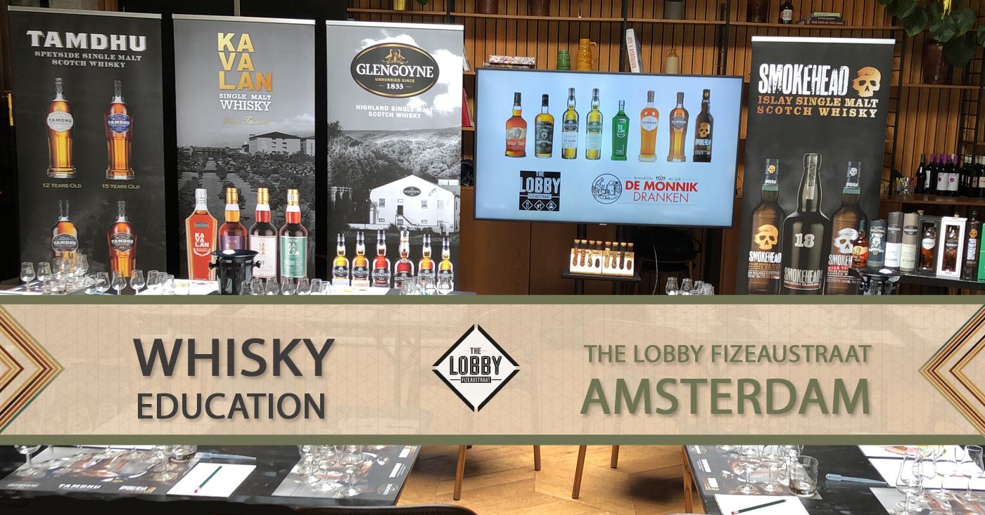 Educatieve whiskymiddag voor personeel The Lobby Amsterdam