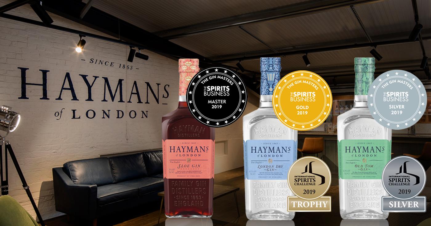 Hayman's Gin beloond met vele awards