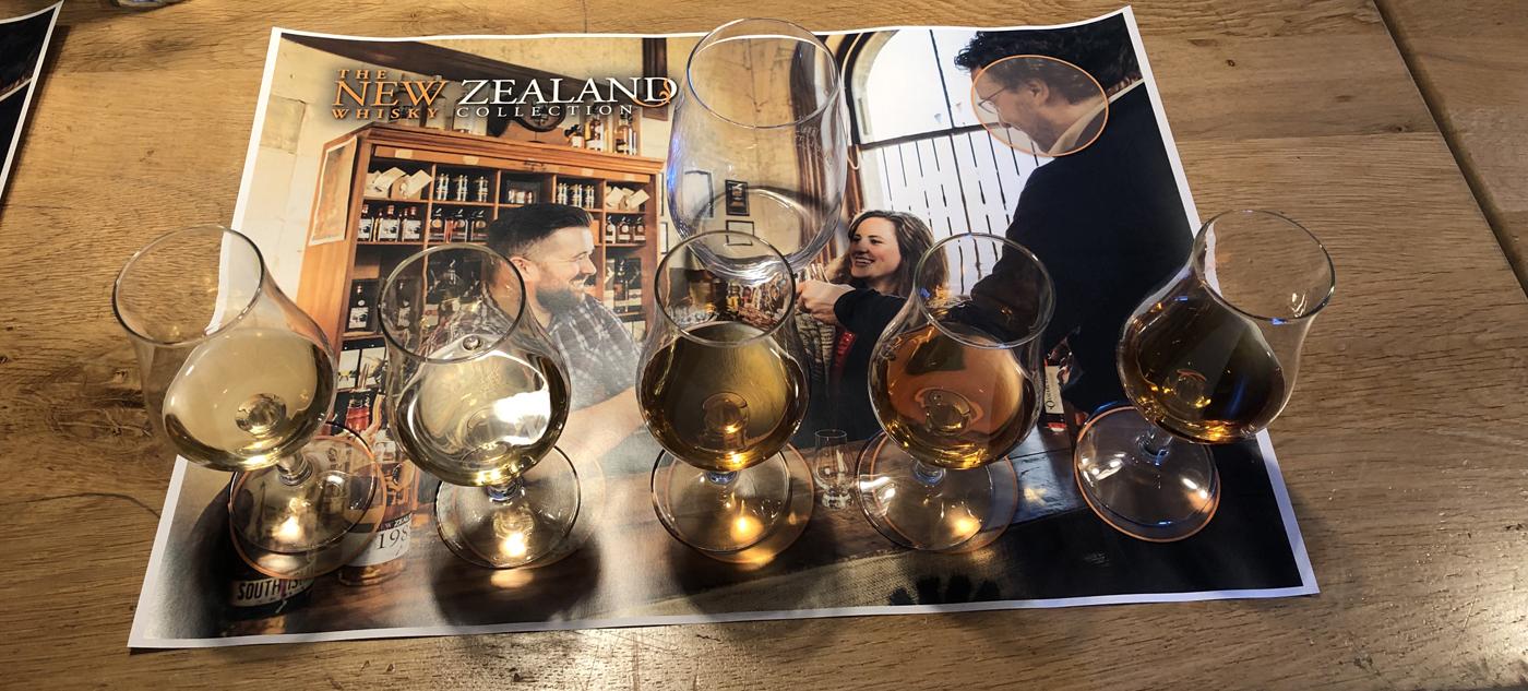 Masterclass met whisky's New Zealand Whisky Collection bij Slijterij Vonk