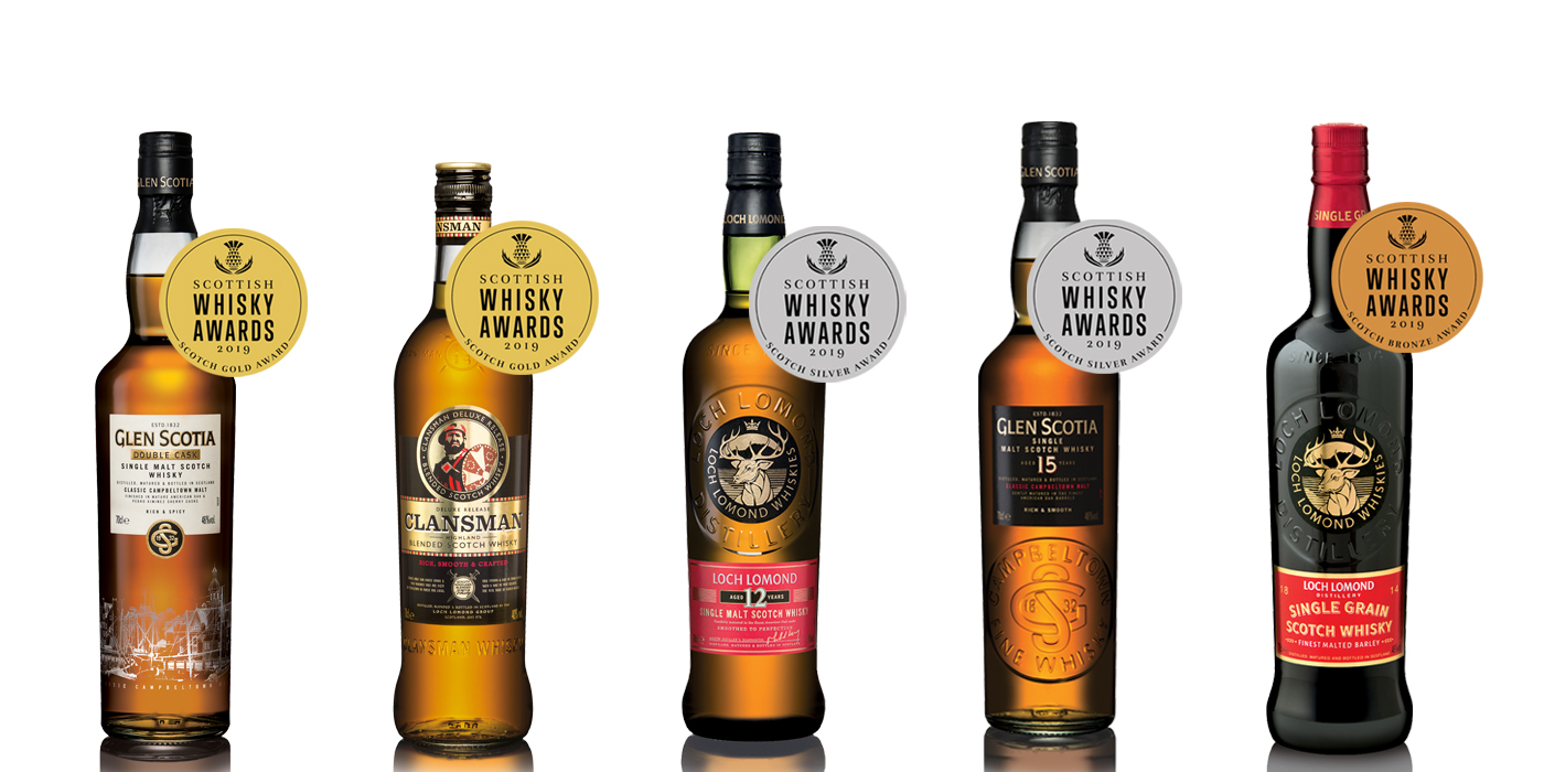 Loch Lomond Group line-up Scottish Whisky Awards 2019