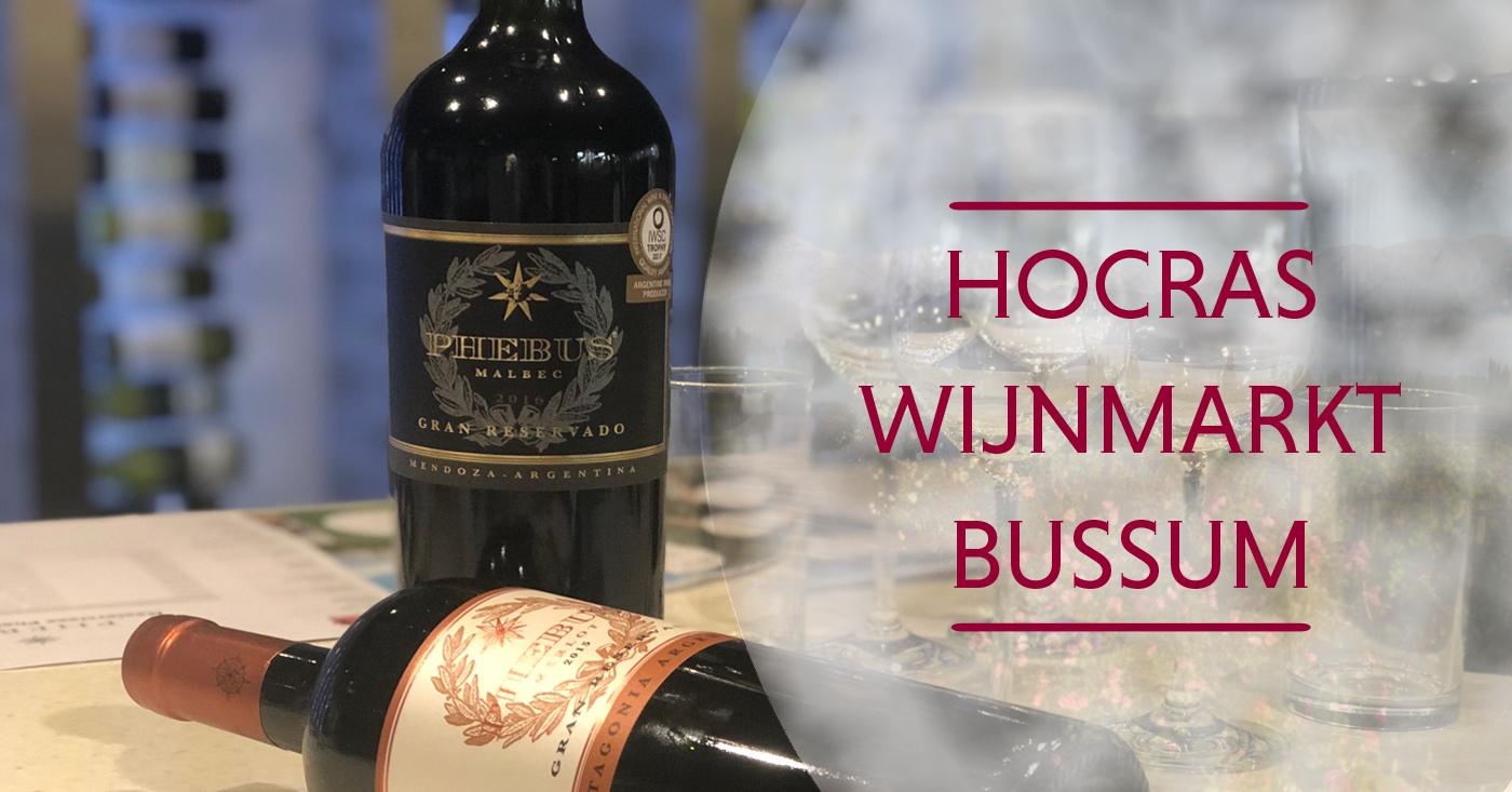 Phebus wijnen goed ontvangen op Hocras wijnmarkt in Bussum